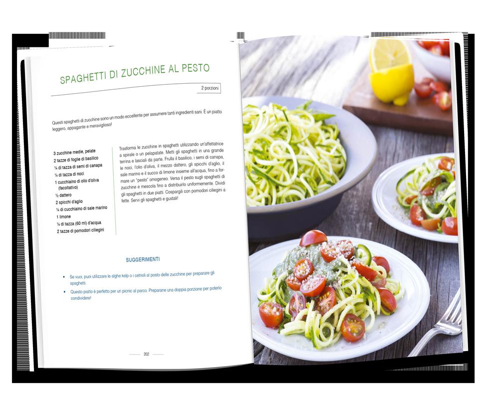 spaghetti di zucchine al pesto guarire la tiroide